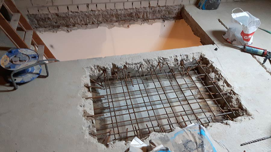 Trapgaten maken betonboringen zeeland boren zagen for Trapgat maken