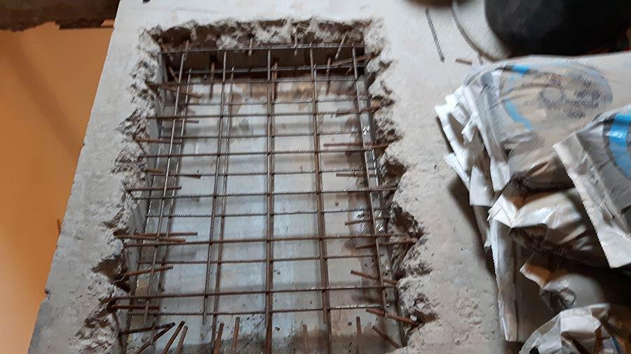 Trapgaten maken betonboringen zeeland boren zagen for Trapgat maken in beton